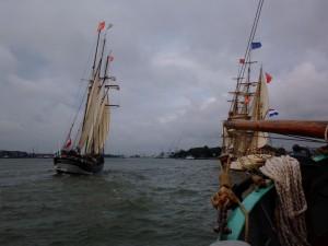 dutch tall ships setting sail