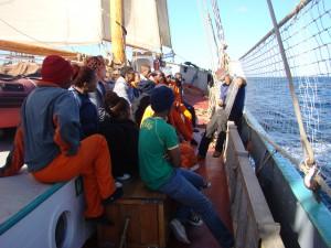 sail training on Tecla