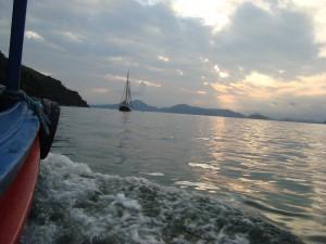 tecla at anchor, brazil
