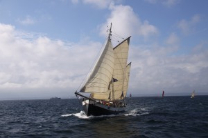 Tecla at the start of the Tall Ships races 2011